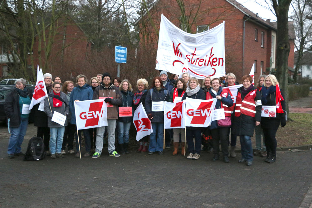 Streikaktion in Nienburg
